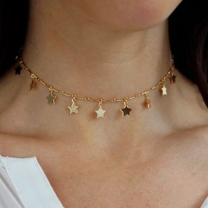 Jewelry - Gold Star Link Choker